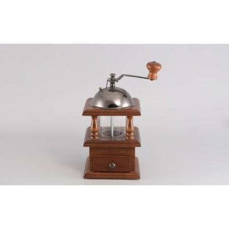 9232 GIPFEL Кофемолка коричневая с прозрачной камерой VOLANS 12,5х12,5х23 см