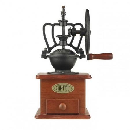 9210 GIPFEL Кофемолка коричневая с колесом 13x13